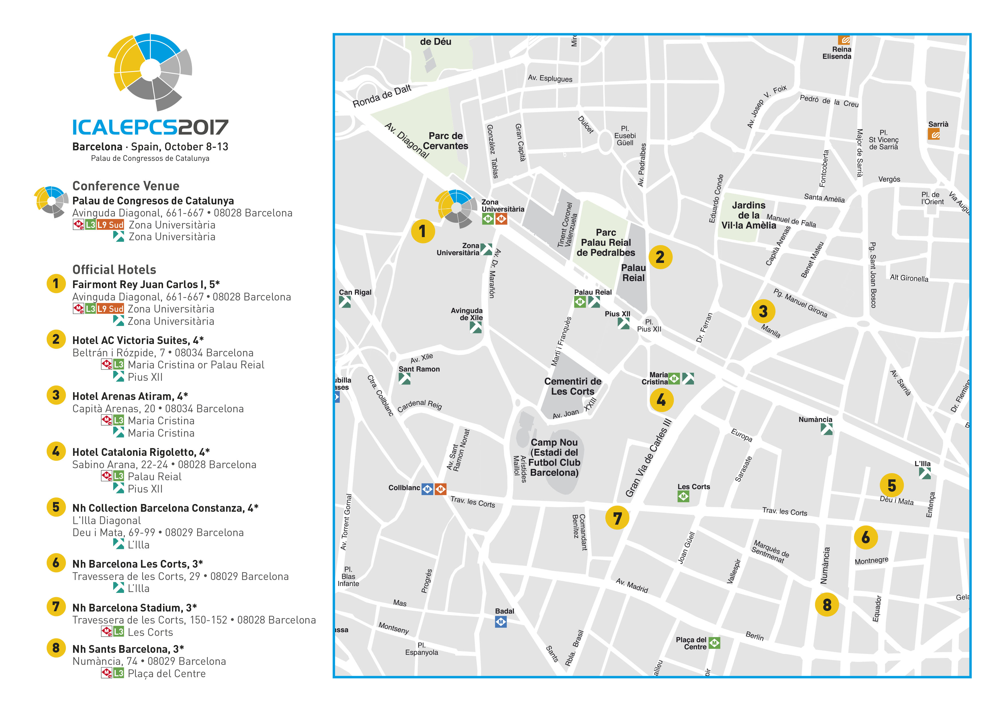 ICALEPCS 2017 Hotels city map